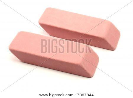 Dos borradores de rosa