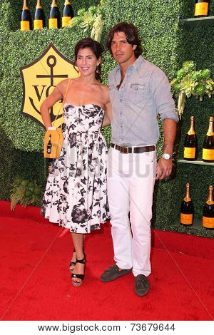 LOS ANGELES - OCT 11:  Vanessa Kay, Nacho Figueras at the Fifth-Annual Veuve Clicquot Polo Classic at Will Rogers State Historic Park on October 11, 2014 in Pacific Palisades, CA