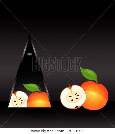 cartão com maçã