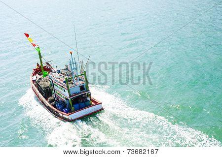 Small fishing boats Laem Sing, Chanthaburi Thailand