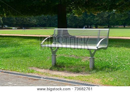 Garden bench in the park