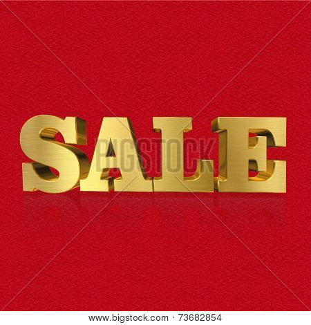 Sale, Gold Metal Letters