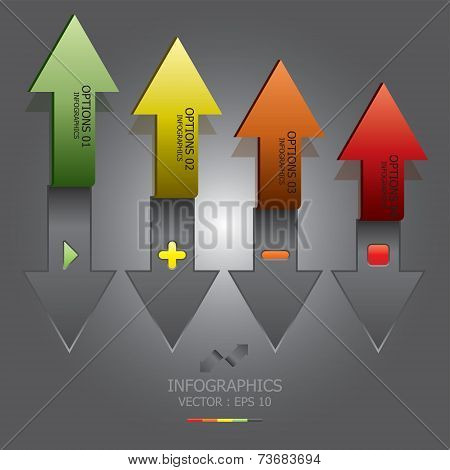 Modern Arrow With Paper Cut Style Business Infographic