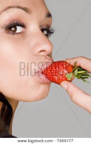 Model With Strawberry