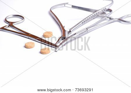 Surgical Forceps And Tablets