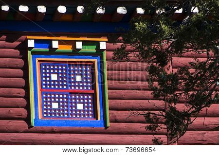 Multicolor window of Tibet
