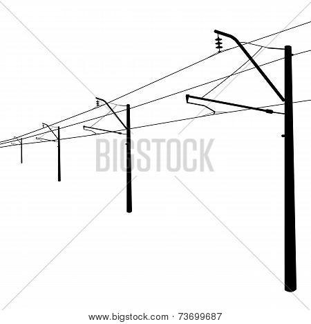 Railroad overhead lines.