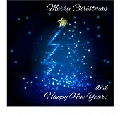 picture of christmas song  - Card with a Christmas song and greeting Merry Christmas and a Happy New Year for your design - JPG