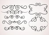 picture of decorative  - Calligraphic decorative elements - JPG
