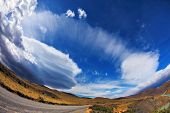 picture of incredible  - Gray dirt road in the Chile National Park  - JPG