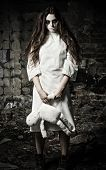 foto of rag-doll  - Horror style shot - JPG