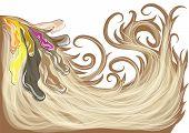 stock photo of hair dye  - hair dye - JPG