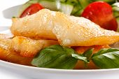 foto of halibut  - Fish dish  - JPG