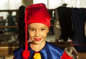 stock photo of gnome  - A nice happy kid wearing gnome clothes - JPG