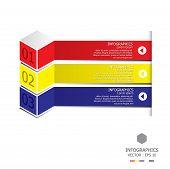 image of quadrangles  - Modern Three Dimension Cube Business Infographic Design Template - JPG