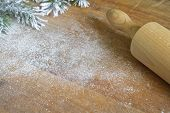 pic of christmas meal  - Abstract christmas food backing and cooking background - JPG