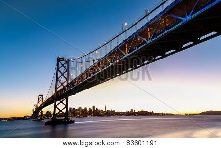 Sf Bay Bridge At Sunset
