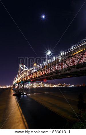 Sf Bay Bridge At Night