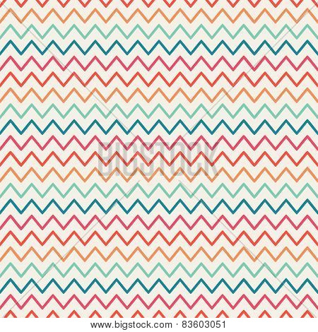 Vector retro chevron zigzag stripes geometric seamless pattern. Vintage hipster striped. For wallpap