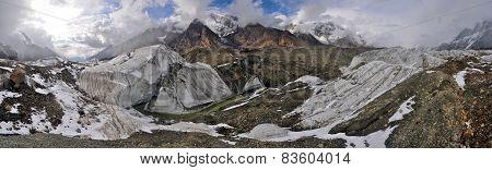 Engilchek Glacier Panorama