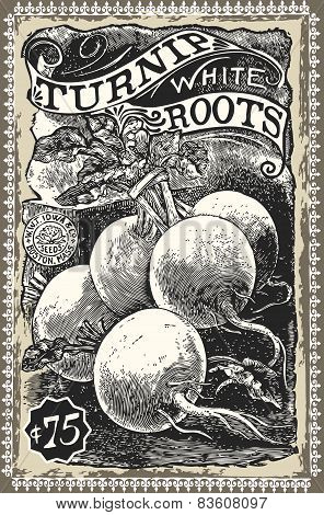 Vintage Greengrocer - Turnip Advertising