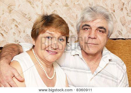 happy elderly pair