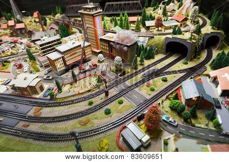 View Of Model Railway In Dresden