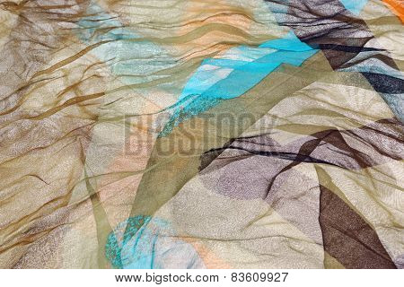 Wavy Chiffon Abstract Textured Background