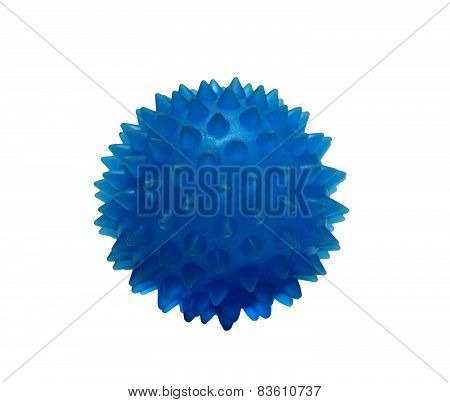 Rubber Balls Massage Blue On A White Background