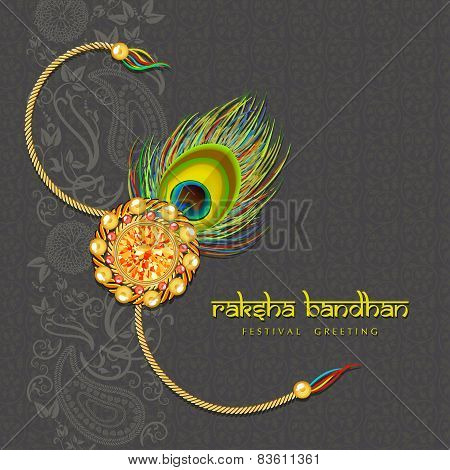 Beautiful rakhi with gems