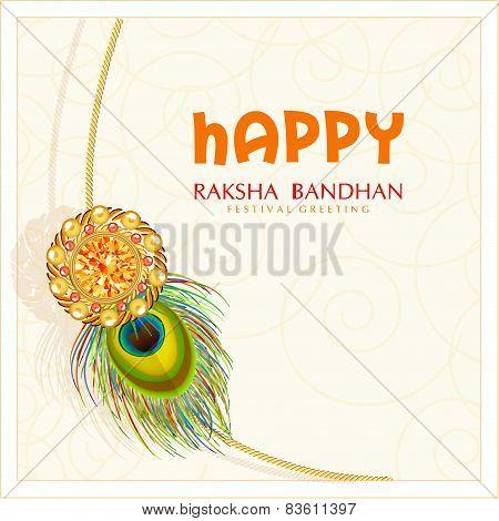 Beautiful rakhi in golden frame