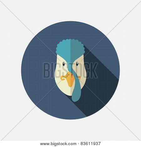 Turkey Flat Icon With Long Shadow