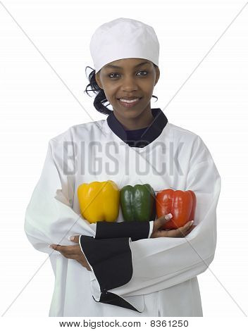 Chef, Cabbage And Peppers