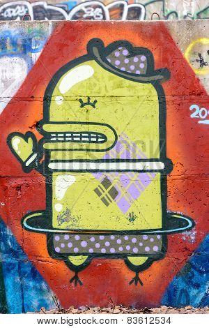 Robot Condom Graffiti