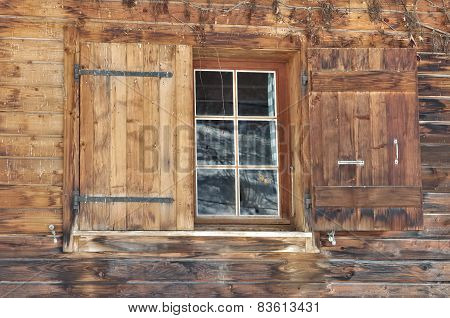 Window On Wooden Facade