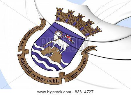 Flag Of San Juan, Puerto Rico.