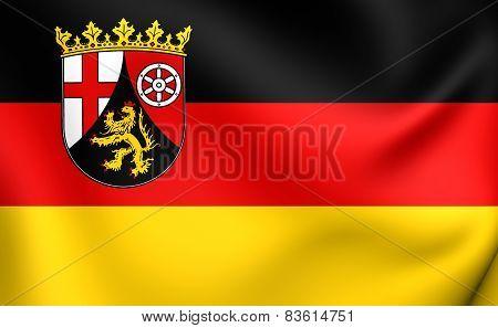 Flag Of Rhineland-palatinate, Germany.