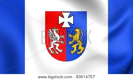 Flag Of Podkarpackie Voivodeship, Poland.