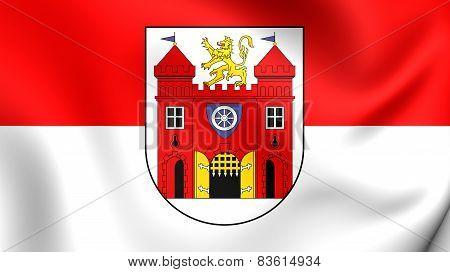 Flag Of Liberec, Czech Republic.