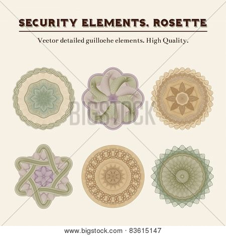Vector detailed guilloche elements.