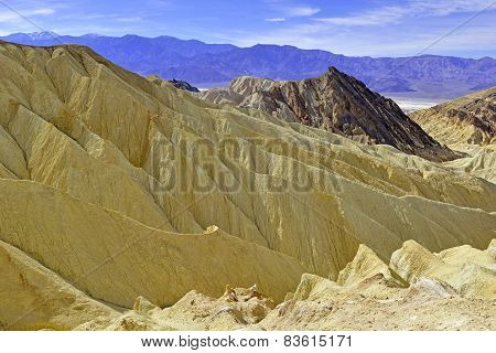 Badlands desert landscape, Death Valley National Park, California