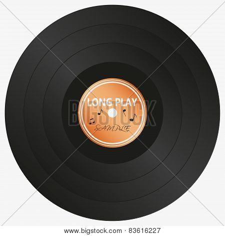 Long Play Lp Audio Music Media Symbol Eps10