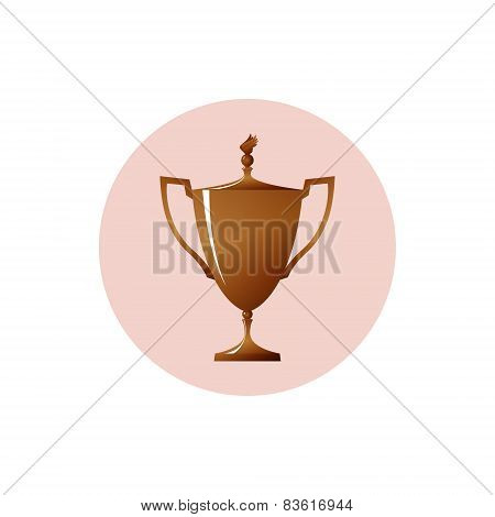 Icon Cup Of Winner,icon Bronzed Trophy Cup