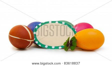 Colorful Easter Eggs .