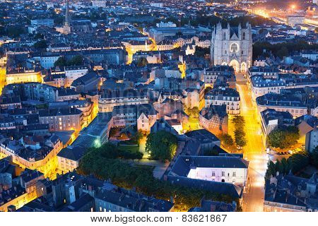 Nantes City At A Summer Night