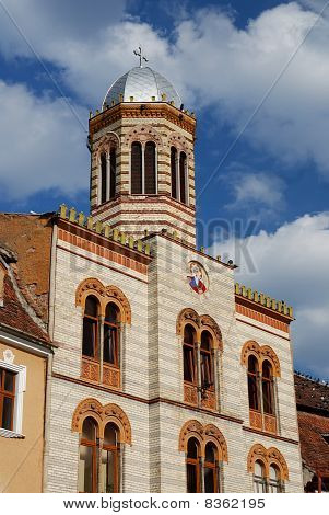 Byzantine Style Church Detail In Brasov City, Romania