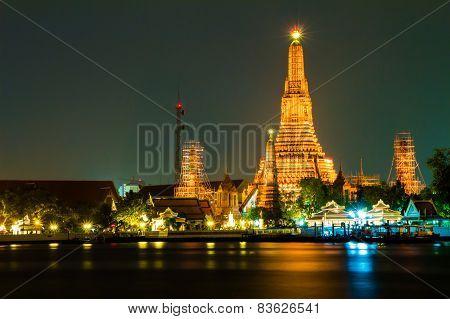 Wat Arun Temple River front in Bangkok City Thailand Update 1-10-2015