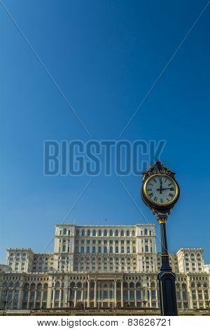 Parliament Building In Bucharest Romania Also Called Casa Poporulu