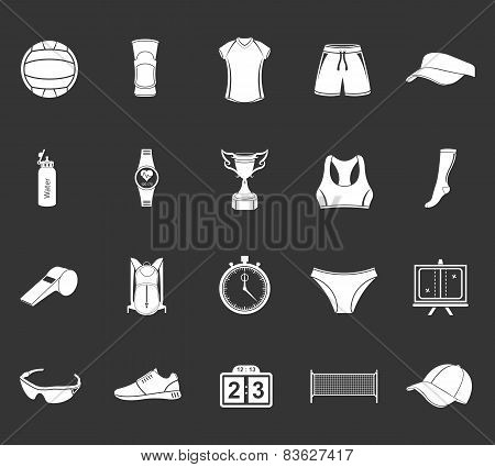 Set Of Icons Volleyball