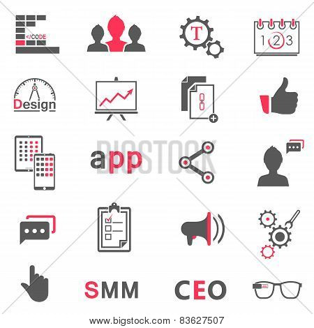 Set Of Modern Icons App, Seo, Smm